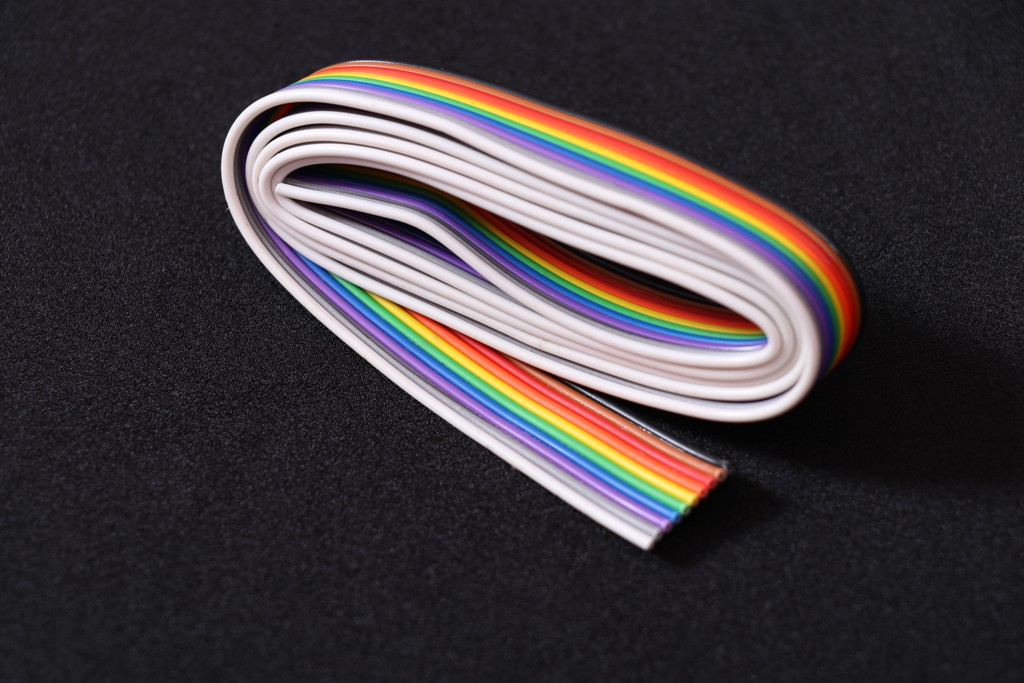 10 Core Flat Ribbon Cable (1 meter)
